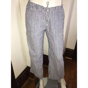 Nordstrom Just Living Striped Linen Pants